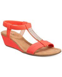 Alfani | Red Vacay Wedge Sandals | Lyst