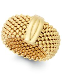 Macy's - Metallic Mesh Ring In 14k Gold Vermeil Over Sterling Silver - Lyst
