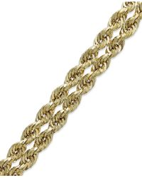 Macy's | Metallic Chain Double Rope Bracelet In 14k Gold | Lyst