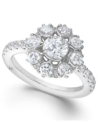 Marchesa | Star By Certified Diamond Engagement Ring In 18k White Gold (1-5/8 Ct. T.w.) | Lyst