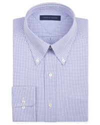Tommy Hilfiger - Men's Big & Tall Classic-fit Non-iron Blue Check Dress Shirt for Men - Lyst