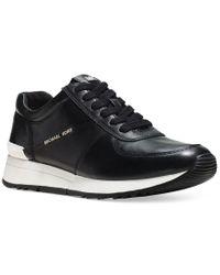 Michael Kors | Black Michael Allie Trainer Sneakers | Lyst