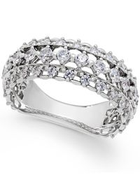 Marchesa | Metallic Certified Diamond Band In 18k White Gold (1 Ct. T.w.) | Lyst
