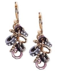 Jones New York   Multicolor Gold-tone Cluster Crystal Link Drop Earrings   Lyst