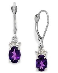 Macy's - Metallic Amethyst (1-5/8 Ct. T.w.) And Diamond Accent Earrings In 14k White Gold - Lyst