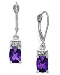 Macy's - Metallic Amethyst (1-3/4 Ct. T.w.) And Diamond Accent Earrings In 14k White Gold - Lyst