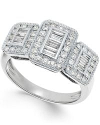 Effy Collection - Multicolor Diamond (5/8 Ct. T.w.) 14k White Gold Ring - Lyst