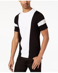 Sean John - Black Men's Colorblocked Embroidered T-shirt for Men - Lyst