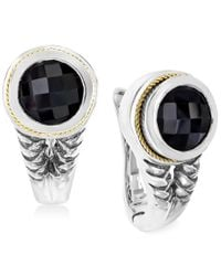 Effy Collection - Multicolor Effy Onyx (3-3/4 C.t. T.w.) Braid Earrings In Sterling Silver And 18k Yellow Gold - Lyst