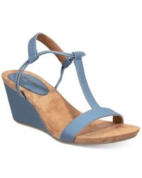 Style & Co. | Blue Mulan Wedge Sandals, Only At Macy's | Lyst