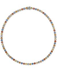 Macy's - Multicolor Colored Sapphire All-around Collar Necklace (25 Ct. T.w.) In Sterling Silver - Lyst