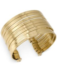 Kenneth Cole | Metallic Gold-tone Multi-row Wire Cuff Bracelet | Lyst