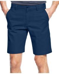 Cutter & Buck | Blue Big And Tall Men's Beckett Flat Front Shorts for Men | Lyst