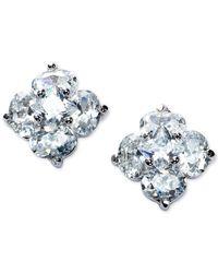 Giani Bernini   Metallic Cubic Zirconia Flower Stud Earrings In Sterling Silver   Lyst
