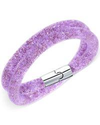 Swarovski   Purple Stardust Double Bracelet   Lyst