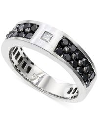 Effy Collection | Metallic Effy Men's Black And White Diamond (1-1/6 Ct. T.w.) Ring In 14k White Gold for Men | Lyst
