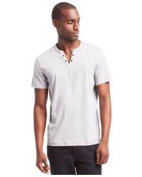 Kenneth Cole Reaction | White Men's Eyelet T-shirt for Men | Lyst
