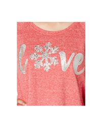Style & Co. - Pink Embellished Graphic Sweatshirt - Lyst