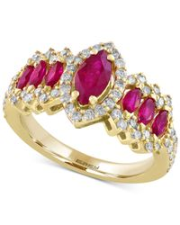 Effy Collection - Metallic Ruby (1-1/3 Ct. T.w.) And Diamond (5/8 Ct. T.w.) Ring In 14k Gold - Lyst