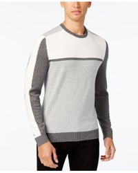 Alfani - Blue Men's Colorblocked Sweater for Men - Lyst
