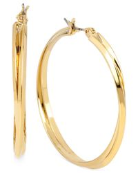 Hint Of Gold - Metallic Double Hoop Earrings In 14k Gold Over Sterling Silver - Lyst