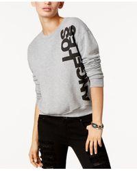 Project Social T - Gray Los Angeles Graphic-print Sweatshirt - Lyst