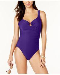 Miraclesuit | Purple Swimsuit, Escape Tummy-control One-piece | Lyst