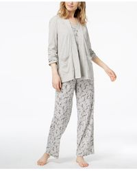 Charter Club - Gray 3-piece Pajama Set, Created For Macy's - Lyst