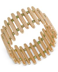 ABS By Allen Schwartz - Metallic Gold-tone Bar Stretch Bracelet - Lyst