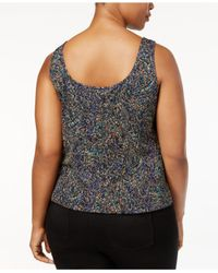 Alex Evenings - Multicolor Plus Size Printed Glitter Jacket & Shell Set - Lyst