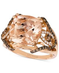 Le Vian - Pink Peach Morganite (6 Ct. T.w.) And Diamond (1/2 Ct. T.w.) Ring In 14k Rose Gold, Only At Macy's - Lyst