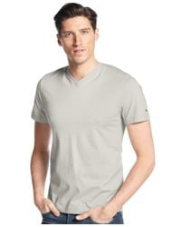Tommy Hilfiger | Gray Men's Elmira V-neck T-shirt for Men | Lyst