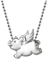 Alex Woo | Multicolor Little Pig Zodiac Pendant Necklace In Sterling Silver | Lyst
