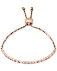 Michael Kors | Pink Clear Bar Slide Bracelet | Lyst