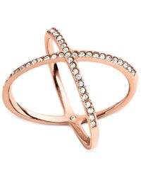 Michael Kors - Pink Circle X Ring - Lyst