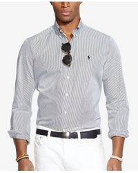 Polo Ralph Lauren | Black Hairline-striped Poplin Shirt for Men | Lyst