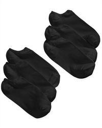 Hue | Black Microfiber Liner Sock | Lyst