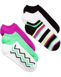 Hue | Green Women's Microfiber Liner Socks 6 Pack | Lyst