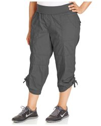 Calvin Klein | Gray Performance Plus Size Cropped Active Pants | Lyst