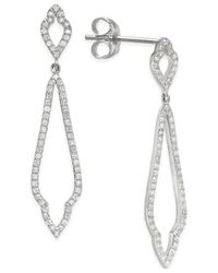 Macy's | Diamond Three-point Drop Earrings (1/3 Ct. T.w.) In 14k White Or Yellow Gold | Lyst