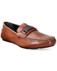 Calvin Klein | Brown Mchale Drivers for Men | Lyst