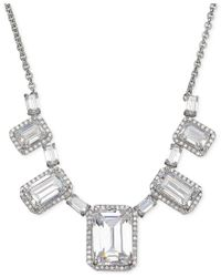 Arabella - Multicolor Swarovski Zirconia Graduated Frontal Necklace In Sterling Silver - Lyst