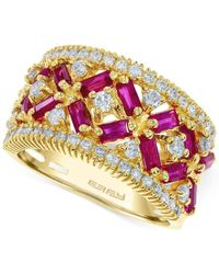 Effy Collection - Metallic Effy Ruby (1-3/4 Ct. T.w.) And Diamond (5/8 Ct. T.w.) Ring In 14k Rose Gold - Lyst