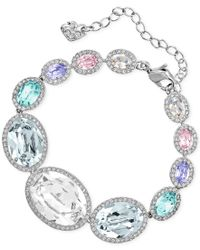 Swarovski | Multicolor Rhodium-tone Colorful Crystal Bracelet | Lyst