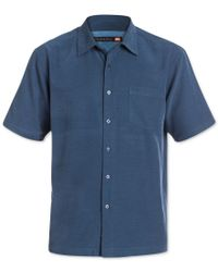 Quiksilver | Blue Waterman Men's Clear Days Solid Short-sleeve Shirt for Men | Lyst