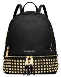 Michael Kors | Black Rhea Studded Backpack | Lyst