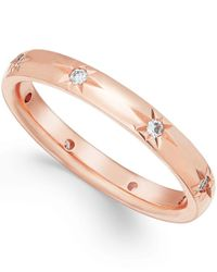 Marchesa | Pink Star By Diamond Wedding Band In 18k Rose Gold (1/8 Ct T.w.) | Lyst