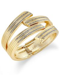 INC International Concepts | Metallic Gold-tone Pave Crystal Crossed Cuff Bracelet, Only At Macy's | Lyst