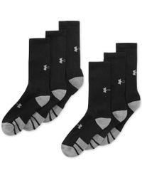 Under Armour | Black Men'S Resistor Ii Crew Socks 6-Pack for Men | Lyst