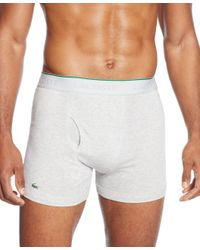 Lacoste | Gray Men's Boxer Briefs 3-pack for Men | Lyst